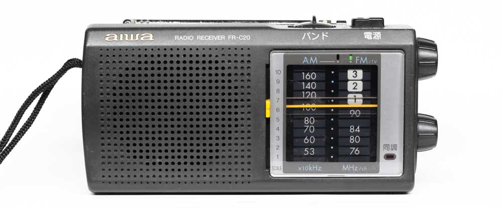 超薄型カードラジオicf-602