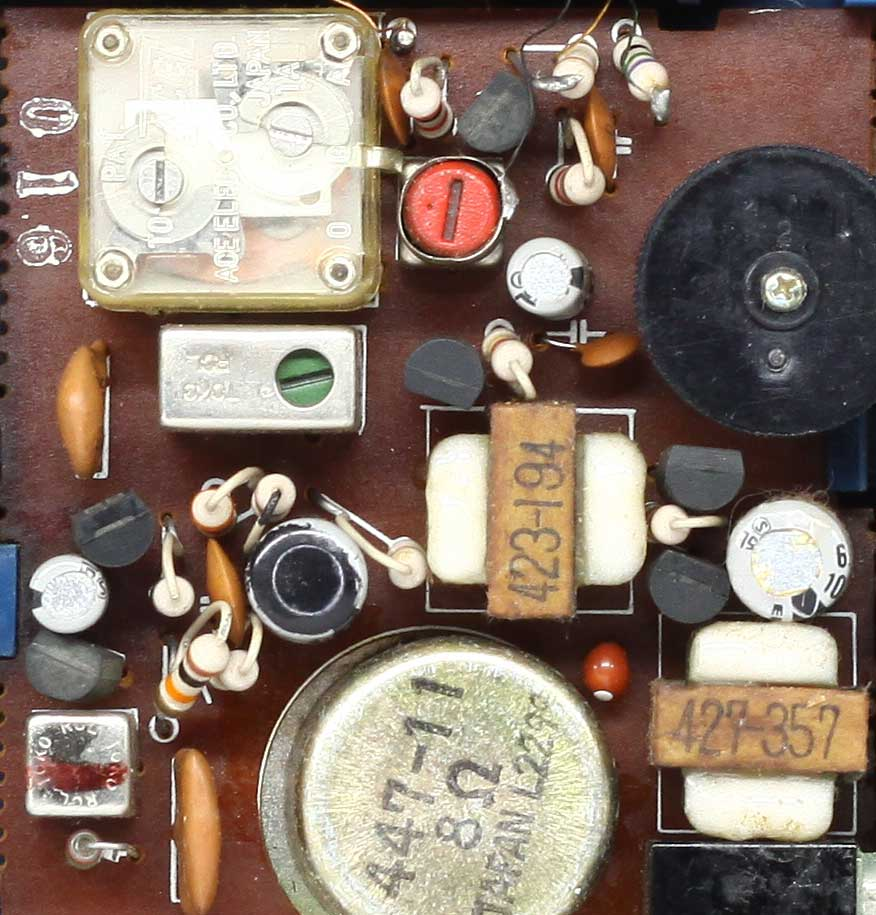 プリント基板に電子部品が沢山
